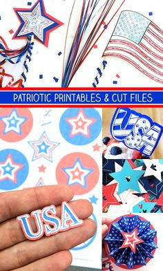 Patriotic printables and cut files designed by Jen Goode