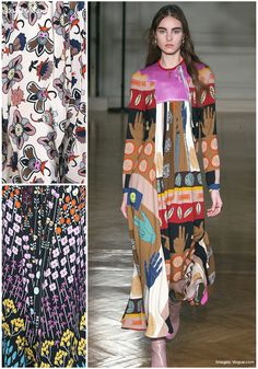 Valentino looked to the Memphis Groupfor his inspiration,prints were abstract and bold in ice cream colours, with wonderfullycurious florals for Fall 20
