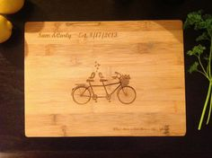 Lovebirds on Retro Bicycle (Perfect Wedding Gift) on Etsy, $12.00