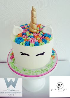 Perfect buttercream unicorn cake