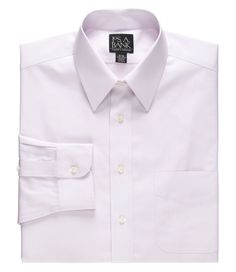 Traveler Tailored Fit Point Collar Pale Microcheck Dress Shirt  2 for $95