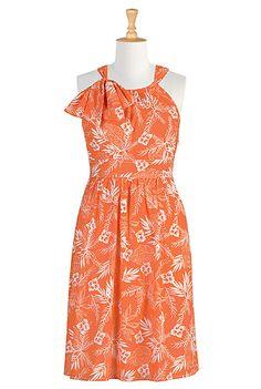 Luau cotton print dress For Jess's wedding?