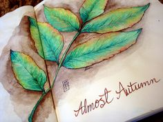 Almost Autumn.  by DionDior at the Flickr Art Journal Love group ~ Lovely drawing. Like the way they dated it too.~BC