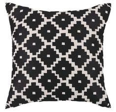 Aztec Black Throw Pillow