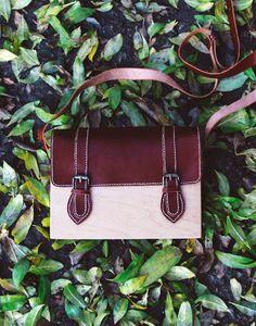 GRAV GRAV - Wooden Classic Satchel Bag #gravgravco #satchelbag #woodenbag