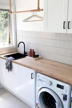 Laundry Shelves, Laundry Room Storage, Laundry Hamper, Small Laundry Rooms, Laundry In Bathroom, Laundy Room, Laundry Room Inspiration, Home Upgrades, Laundry Room Design