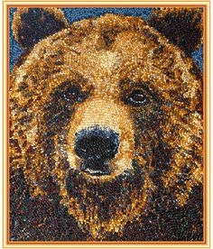 Kristen Cumings' jelly bean art is amazing! Jelly Belly jelly beans considers Ms Cumings their artist-in-residence since she only uses Jelly Belly beans! Amazing, right? Jelly Belly Beans, Jelly Beans, California Golden Bears, Belly Art, Butter Popcorn, Ppr, Button Art, Types Of Art, Type Art