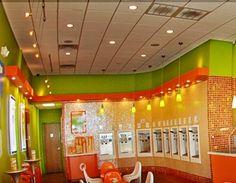 Orange Leaf Frozen yogurt shop.  Hours:  M-Sun 11-11  (513) 421-5335  160 Walnut St. Cincinnati, OH 45202