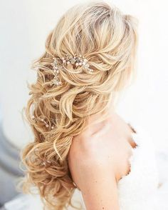 Wedding Hairstyles: Elstile Long Wedding Hairstyle Inspiration www.deerpearlflow