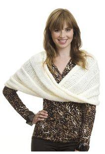 Free knitting pattern for pretty wrap