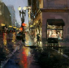 Rainy Day in Downtown by Hsin-Yao Tseng