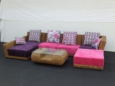Fashion Rattan Sofa great in teen hangout area!