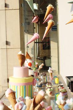 #albabasweets #display #icecream #cake #marshmallow #cones