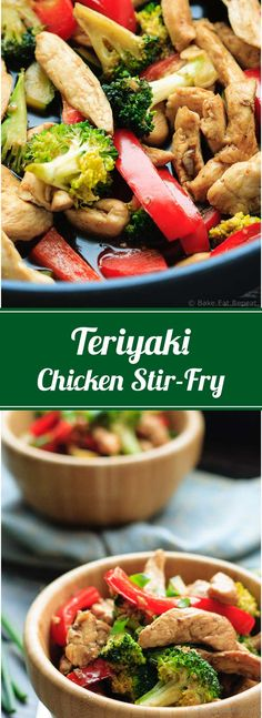Teriyaki Chicken Stir-Fry - Easy teriyaki chicken stir-fry that is on the table in less than 30 minutes - and the whole family will love it! Stir Fry Recipes, Cooking Recipes, Easy Teriyaki Chicken, Baked Chicken Recipes, Pasta, Galette, Healthy Dinner Recipes, Skinny Recipes, Summer Recipes