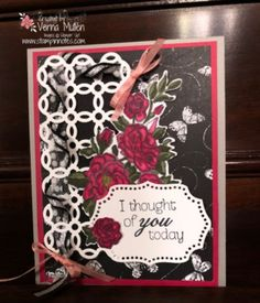Climbing Roses Stamp Set and Rose Trellis Thinlits Dies. I Thought Of You Today, Tim Holtz Dies, Rose Trellis, Climbing Roses, Stamping, Catalog, Tags, Flower, Create