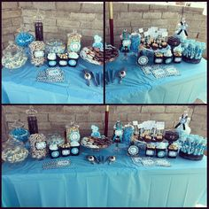 Baby Shower Blue Safari Theme Baby Boy Shower Candy Treat Table I Did