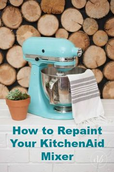 How to repaint your KitchenAid Mixer to match your decor.