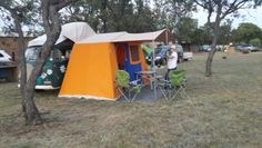 Westfalia with tent camping in Dinokeng
