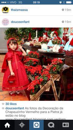 Inspiracao festa Chapeuzinho Vermelho
