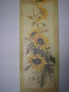 decoupage sunflowers stella