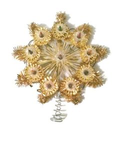 vintage Christmas tree topper mid century tree topper by Abisfinds