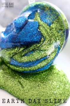 Learn how to make Earth Day slime for a fun and simple Earth Day science and sensory play activity all in one!