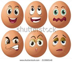 Buy Egg Expressions by interactimages on GraphicRiver. Illustration of egg with expressions Rock Crafts, Diy And Crafts, Crafts For Kids, Rock Painting Ideas Easy, Rock Painting Designs, Easter Paintings, Cartoon Faces, Angry Cartoon, Food Cartoon