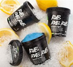 Rub Rub Rub - this lemony scented Shower Scrub with sea salt keeps your skin soft and gets rid of dead skin. An everyday product.