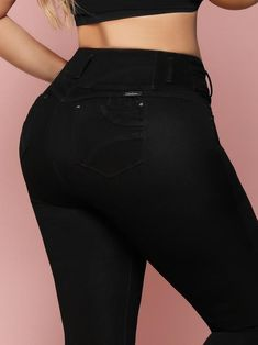 Good Times Butt Lift Levanta Cola Jeans 2020 – Colombiana Boutique Brazilian Pants, Best Jeans, Black Heart, Stretchy Material, Good Times, Push Up, Thighs, Leather Pants, Skinny Jeans