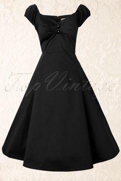 50s Dolores Doll swing dress black