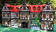 Tudor Hall made of Playmobil.  I think my family almost has enough to make this.