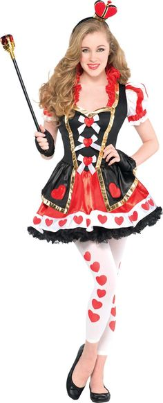 Teen Girls Sassy Queen of Hearts Costume - Party City