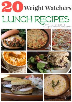 20 Weight Watchers Lunch Recipes - A great way to eat what you love but still lose weight