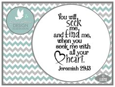 Seek Me with All Your Heart Jeremiah 29:13 LL073 by lyricalletters