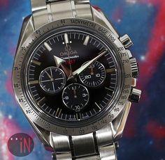 """""""Galaxies Far Away!"""" #Omega 42mm Speedmaster 1957 Broad Arrow Ref#: 321.10.42.50.01.001 ($3,925.00 USD) http://www.elementintime.com/Omega-Speedmaster-1957-Broad-Arrow-321.10.42.50.01.001-Stainless-Steel-Black-Dial"""