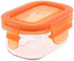 Wean Green-Vaschette per alimenti a chiusura ermetica per svezzamento, colore: arancio carota
