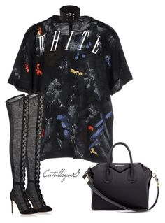 """Untitled #934"" by vladacatalleyag on Polyvore featuring Off-White, Gianvito Rossi and Givenchy"