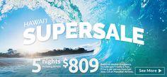 Hawaii Super Sale! - https://traveloni.com/vacation-deals/hawaii-super-sale/