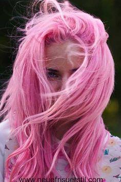 Lange Chaotisch Rosa Haare