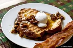 Caramelized Banana-Stuffed French Toast (on the Panini Maker!)...get the recipe at www.paninihappy.com