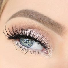 Beautiful eye makeup and gorgeous long lashes