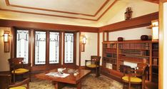 Francis Little House II (Library Reconstruction) | Frank Lloyd Wright Foundation