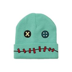 Disney Lilo & Stitch Scrump Watchman Beanie   Hot Topic ($15) ❤ liked on Polyvore featuring accessories, hats, beanies, hot topic, beanie cap, disney hats, embroidered knit hats, knit beanie caps and embroidered hats