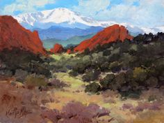 Garden of the Gods View, measures 9ins by 12ins.