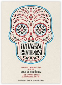 Free Day of the Dead Invitations from Crate and Barrel and our friends at Paperless Post www.crateandbarrel.com