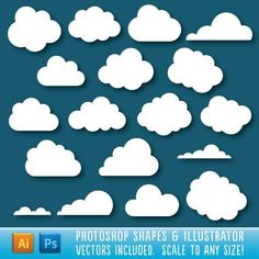 Cloud Shapes for $5 #GraphicRiver #photoshoptips #GraphicResources #collection #design #photo #PhotoshopAddons #set #addons #PhotoShop #GraphicDesign #shape #AdobePhotoshop #GraphicDesigner #graphic #PhotoEditing #DesignCollection #photoshopshapes #DesignSet