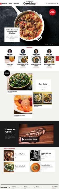 New York Times Cooking Website Design #webdesign #website #design