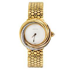 CARTIER Trinity Diamond Tri-Tone Gold Women's Watch