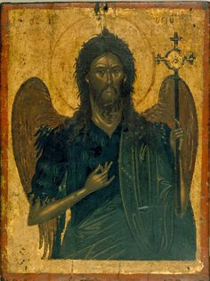 Icon of St. John the Baptist, anonymous Cretan painter, ca. Benaki Museum in Athens, Greece Byzantine Icons, Byzantine Art, Benaki Museum, Orthodox Catholic, Google Art Project, Original Paintings For Sale, Russian Icons, John The Baptist, Ancient Art