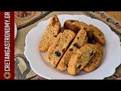 Κρητικά παξιμαδάκια με ελαιόλαδο και σταφίδες (VIDEO) - cretangastronomy.gr French Toast, Breakfast, Food, Youtube, Morning Coffee, Essen, Meals, Yemek, Youtubers